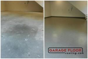 Garage Floor Coating Epoxy Garage Floor System - Residential - Before & After (1)