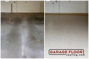 Garage Floor Coating Epoxy Garage Floor System - Residential - Before & After (100)