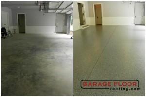 Garage Floor Coating Epoxy Garage Floor System - Residential - Before & After (11)