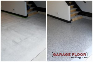 Garage Floor Coating Epoxy Garage Floor System - Residential - Before & After (21)
