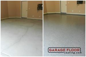 Garage Floor Coating Epoxy Garage Floor System - Residential - Before & After (24)