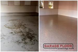Garage Floor Coating Epoxy Garage Floor System - Residential - Before & After (26)