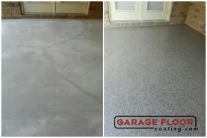Garage Floor Coating Epoxy Garage Floor System - Residential - Before & After (3)