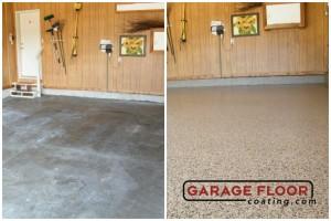 Garage Floor Coating Epoxy Garage Floor System - Residential - Before & After (31)