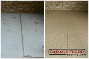 Garage Floor Coating Epoxy Garage Floor System - Residential - Before & After (4)