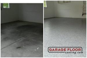Garage Floor Coating Epoxy Garage Floor System - Residential - Before & After (40)