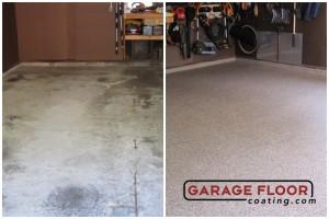 Garage Floor Coating Epoxy Garage Floor System - Residential - Before & After (46)