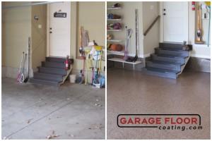 Garage Floor Coating Epoxy Garage Floor System - Residential - Before & After (47)