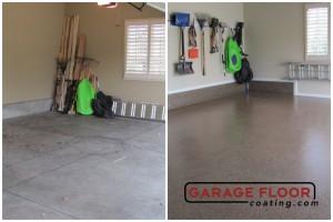 Garage Floor Coating Epoxy Garage Floor System - Residential - Before & After (48)