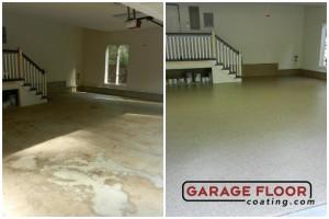 Garage Floor Coating Epoxy Garage Floor System - Residential - Before & After (54)