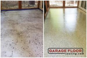 Garage Floor Coating Epoxy Garage Floor System - Residential - Before & After (7)