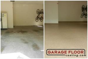 Garage Floor Coating Epoxy Garage Floor System - Residential - Before & After (8)