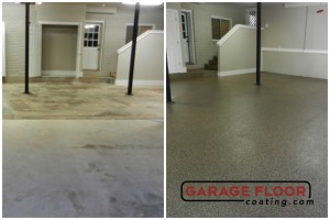 Garage Floor Coating Epoxy Garage Floor System - Residential - Before & After (85)