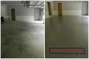 Garage Floor Coating Epoxy Garage Floor System - Residential - Before & After (92)