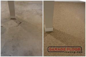 Garage Floor Coating Epoxy Garage Floor System - Residential - Before & After (95)