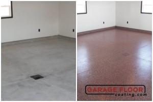 Garage Floor Coating Epoxy Garage Floor System - Residential - Before & After (98)