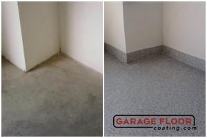 Garage Floor Coating Epoxy Garage Floor System - Residential - Before & After (99)